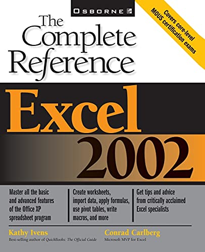 9780072132458: Excel 2002: The Complete Reference