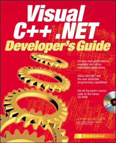 9780072132816: Visual C++(r).NET Developer's Guide