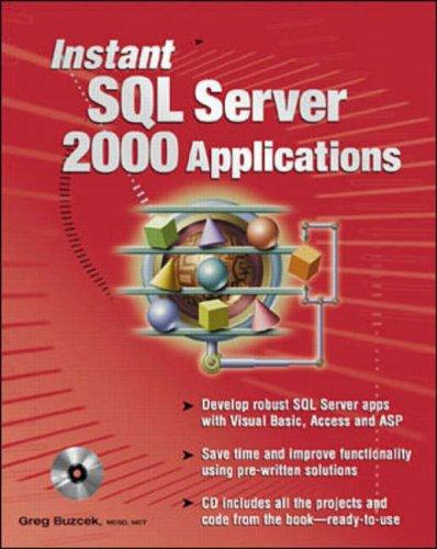 9780072133202: Instant SQL Server 2000 Applications (Application Development)