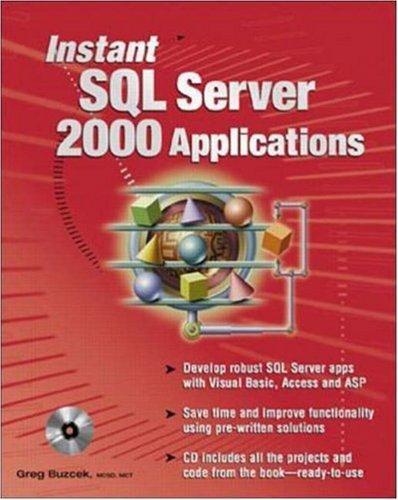 9780072133202: Instant SQL Server 2000 Applications