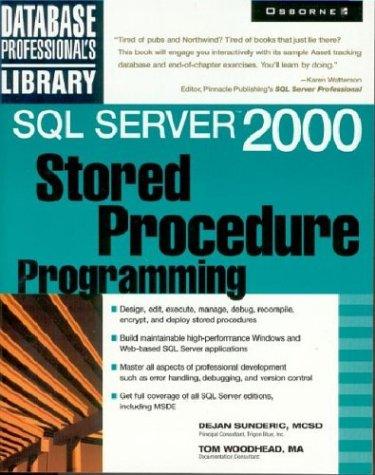 9780072133615: Sql Server 2000: Stored Procedure Programming
