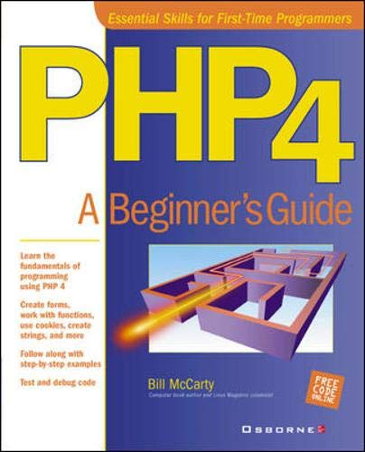 9780072133714: PHP 4:  A Beginner's Guide