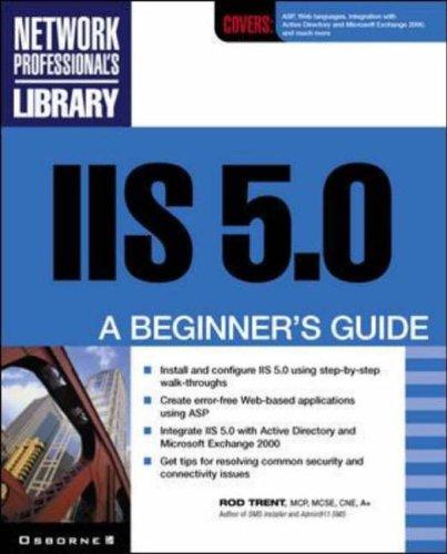 9780072133721: IIS 5.0: A Beginner's Guide