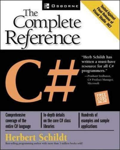 9780072134858: C#: The Complete Reference