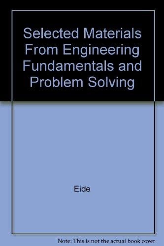 9780072179736: Selected Materials From Engineering Fundamentals and Problem Solving
