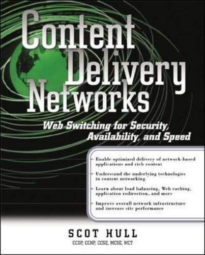 9780072190465: Content Delivery Networks: Web Switching for Security, Availability, and Speed (Standards & protocols)