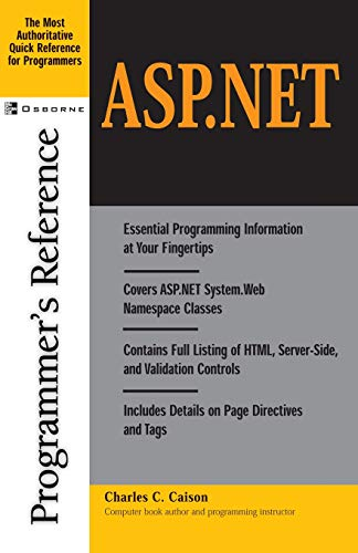 9780072190496: ASP.Net Programmer's Reference