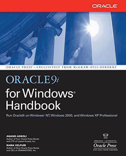 9780072190922: Oracle9i for Windows Handbook