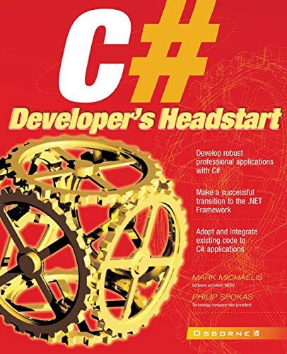 9780072191165: C# Developer's Headstart (Application Development)