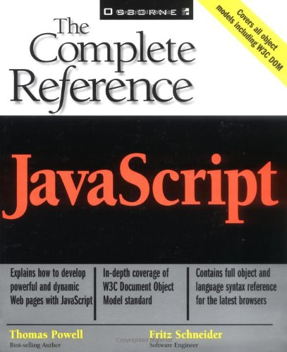 9780072191271: JavaScript: The Complete Reference
