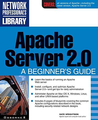 9780072191837: Apache Server 2.0: A Beginner's Guide