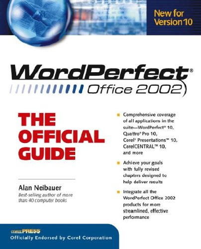 9780072192186: WordPerfect. Office 2002: The Official Guide