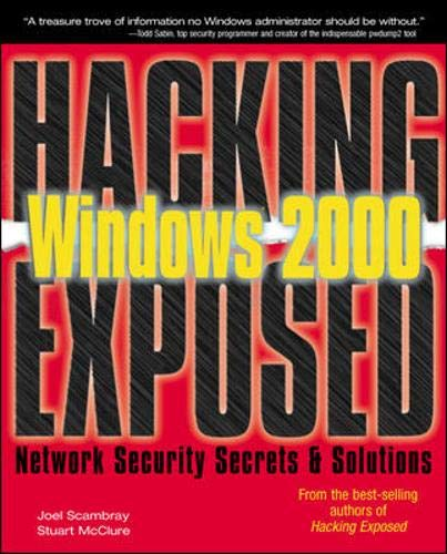 9780072192629: Windows 2000 (Hacking Exposed)