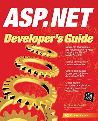 9780072192889: ASP .NET Developer's Guide