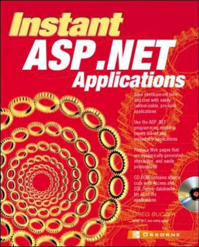 9780072192919: Instant ASP.NET Applications(with CD)