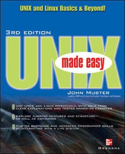 9780072193145: UNIX Made Easy