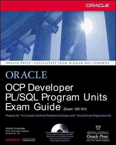 9780072193367: OCP Developer PL/SQL Program Units Exam Guide