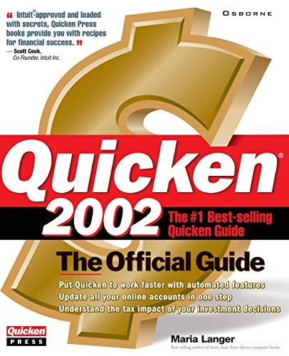 9780072193916: Quicken 2002: The Official Uide (Quicken Press)