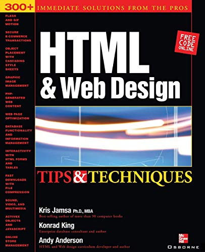 9780072193947: HTML & Web Design Tips & Techniques: Tips and Techniques