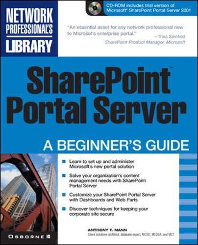 9780072194005: SharePoint Portal Server: A Beginner's Guide
