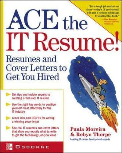 9780072194036: Ace the IT Resume!