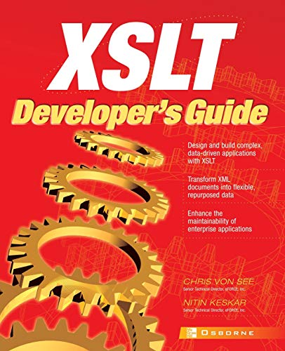 9780072194081: XSLT Developer's Guide (Applications Development)