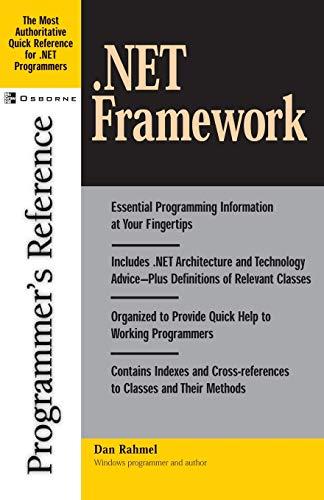 9780072194661: .NET Framework Programmer's Reference