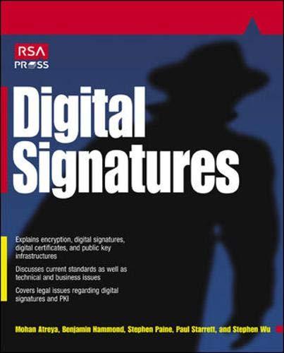 9780072194821: Digital Signatures