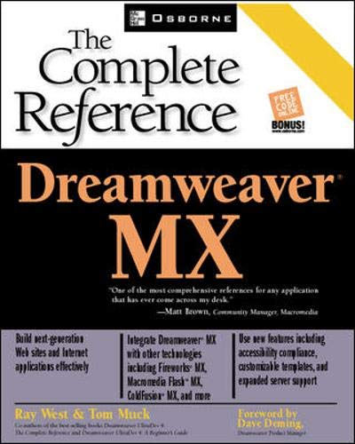 9780072195149: Dreamweaver MX: The Complete Reference