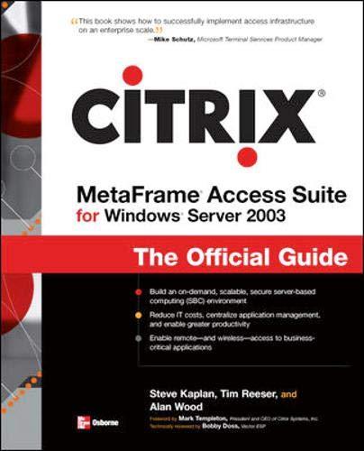 9780072195668: Citrix Metaframe Access Suite for Windows Server 2003