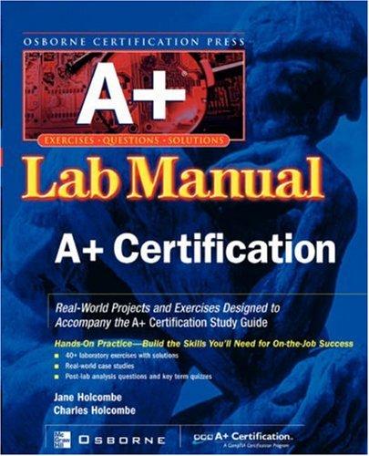 9780072195699: A+(r) Certification Press Lab Manual