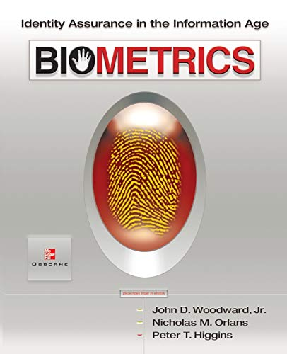 9780072222272: Biometrics: Identity Assurance in the Information Age