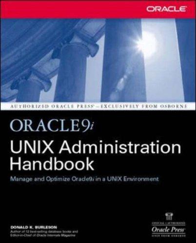 9780072223040: Oracle9i UNIX Administration Handbook
