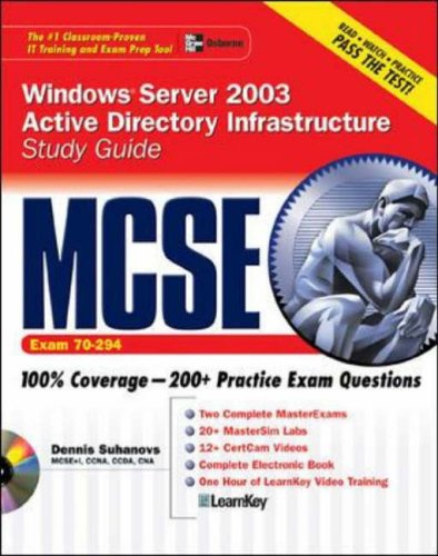 9780072223194: MCSE Windows Server 2003 Active Directory Infrastructure Study Guide (Exam 70-294) (Certification Press)