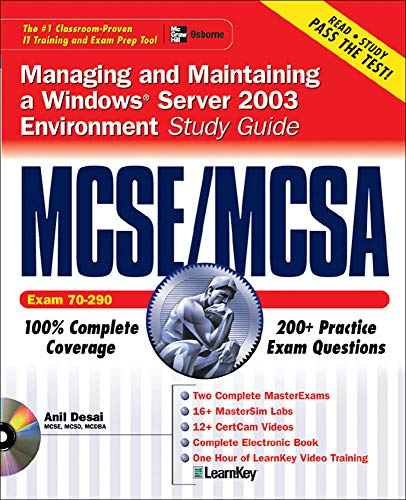 9780072223224: MCSE/MCSA Windows Server 2003 Environment Study Guide (Exam 70-290)