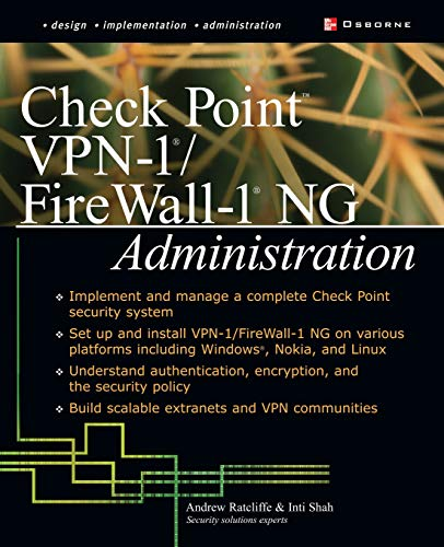 9780072223422: Check Point VPN-1/Fire Wall-1 NG Administration (Network Professional's Library)