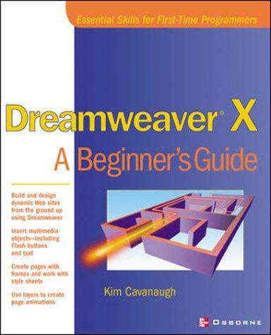 9780072223651: Dreamweaver X: A Beginner's Guide