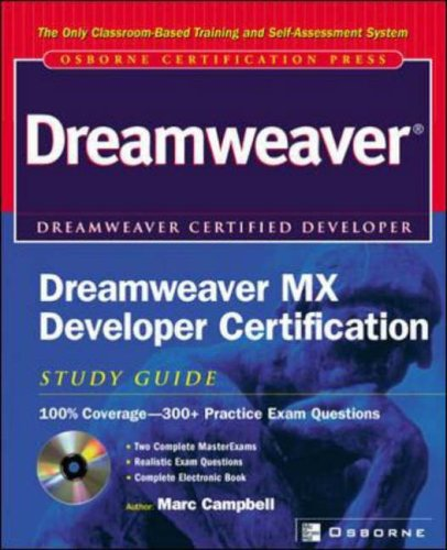 9780072223705: Dreamweaver MX Developer Certification: Study Guide (Certification Press)