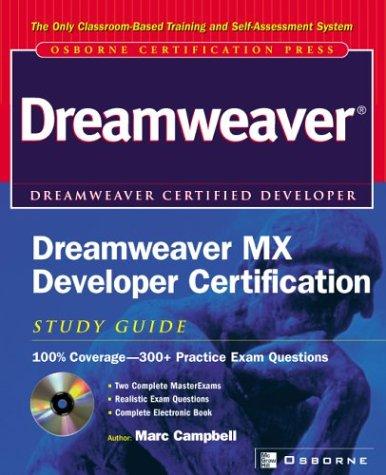 9780072223705: Dreamweaver MX Developer Certification Study Guide