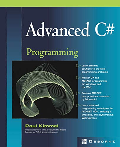9780072224177: Advanced C# Programming