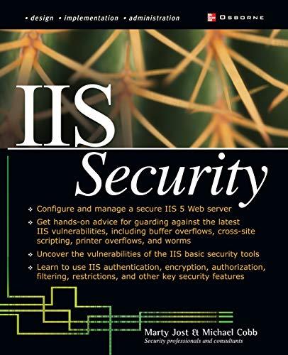 9780072224399: IIS Security