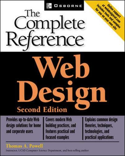 9780072224429: Web Design: The Complete Reference