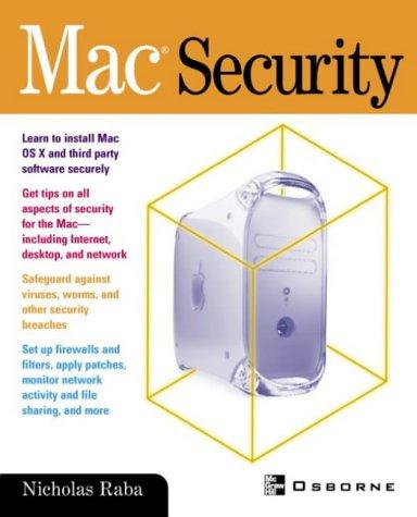 9780072224627: Mac Security