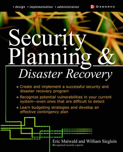 9780072224634: Security Planning and Disaster Recovery