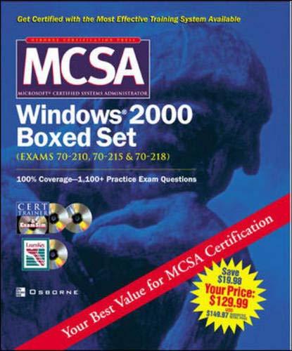 9780072224986: MCSA Windows(R) 2000 Boxed Set (Exams 70-210, 70-215,70-218)