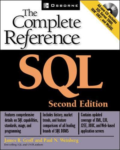 9780072225594: SQL: The Complete Reference, Second Edition (Osborne Complete Reference Series)