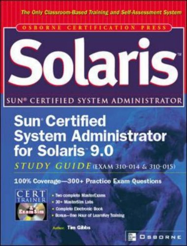 9780072225983: Sun Certified Administrator for Solaris 9.0 Study Guide (Exams 310-XXX and 310-XXX) (Certification Press)