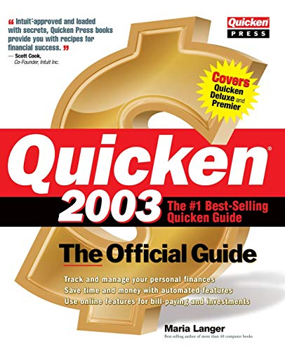 9780072226188: Quicken(R) 2003: The Official Guide