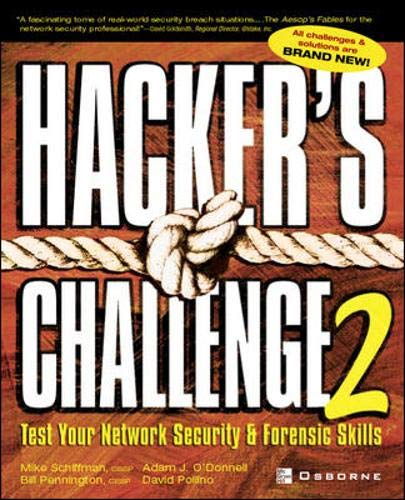 9780072226300: Hacker's Challenge 2: Test Your Network Security & Forensic Skills