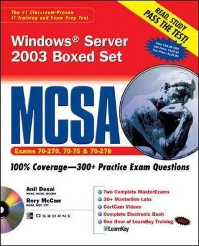 9780072226362: MCSA Windows Server 2003 Boxed Set (Exams 70-290, 70-291, & 70-270)